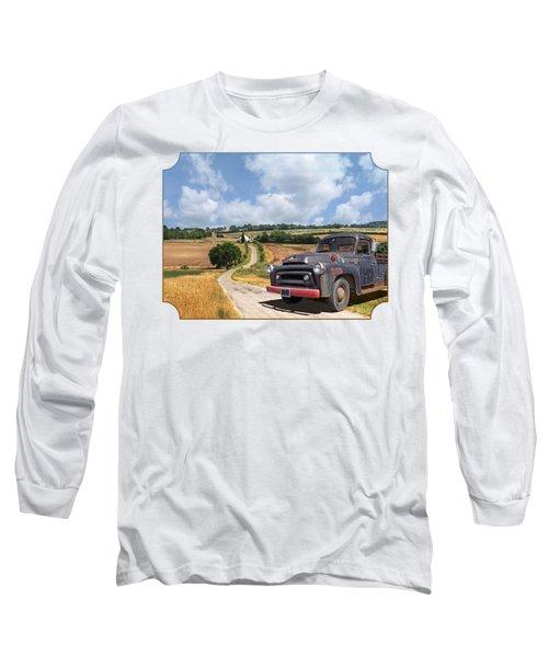 Down On The Farm - International Harvester S-100 Long Sleeve T-Shirt