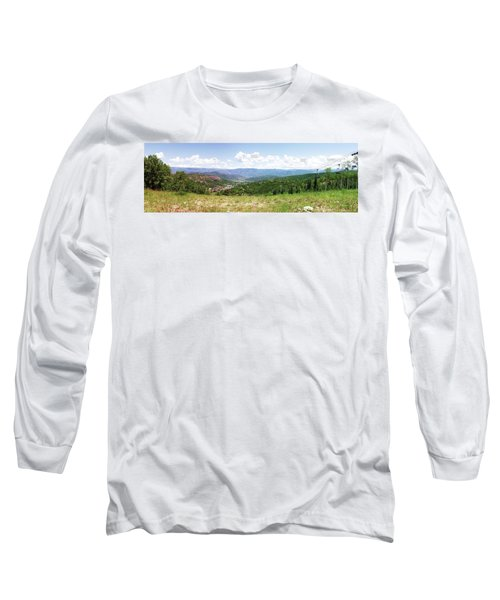 Long Sleeve T-Shirt featuring the photograph Down The Valley At Snowmass #2 by Jerry Battle