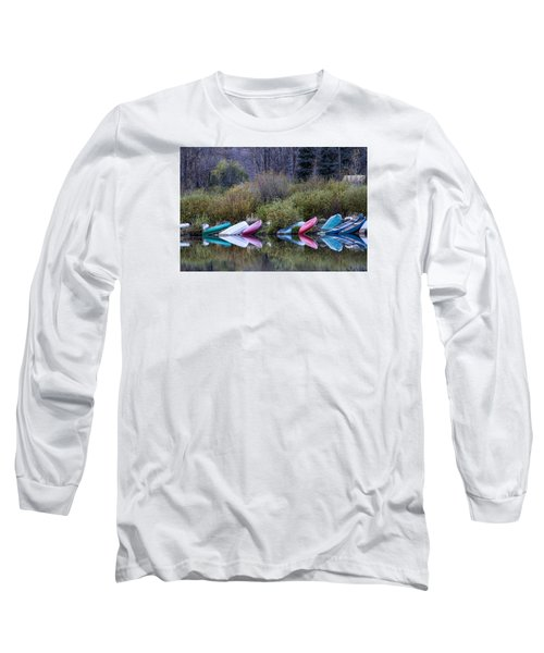 Downtime At Beaver Lake Long Sleeve T-Shirt by Alana Thrower