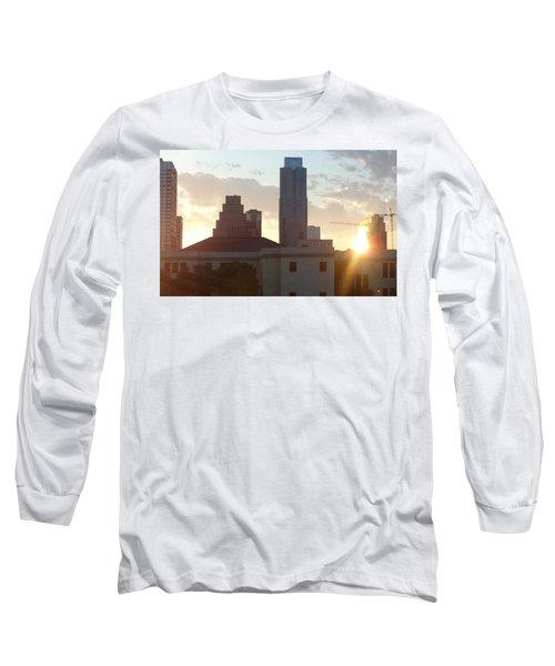 Downtown Austin Long Sleeve T-Shirt by Karen J Shine