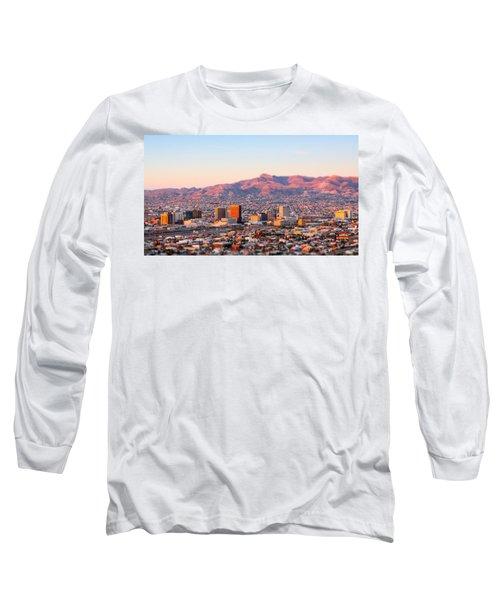 Downtown El Paso Sunrise Long Sleeve T-Shirt