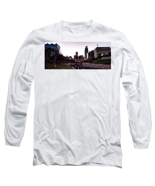 Downtown Omaha At Sunset Long Sleeve T-Shirt
