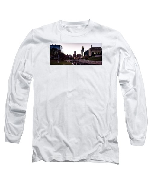 Downtown Omaha At Sunset Long Sleeve T-Shirt