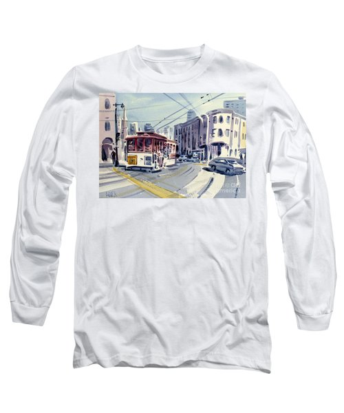 Downtown San Francisco Long Sleeve T-Shirt by Donald Maier