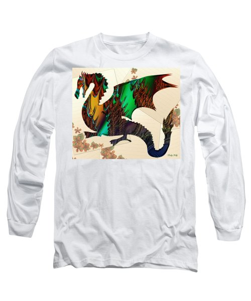 Drago Long Sleeve T-Shirt by Kathy Kelly