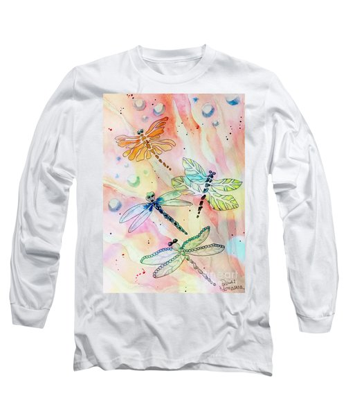 Long Sleeve T-Shirt featuring the painting Dragon Diversity by Denise Tomasura