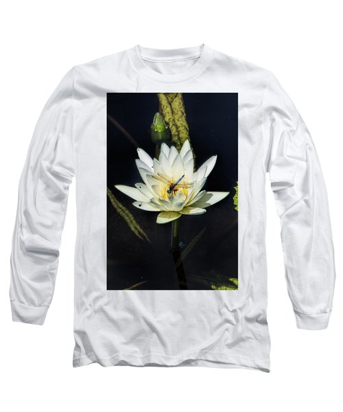 Dragon Fly On Lily Long Sleeve T-Shirt