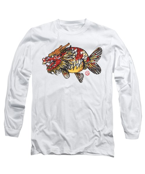 Dragon Ranchu Long Sleeve T-Shirt by Shih Chang Yang