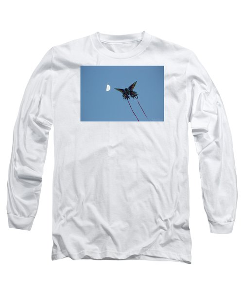 Dragonfly Chasing The Moon Long Sleeve T-Shirt