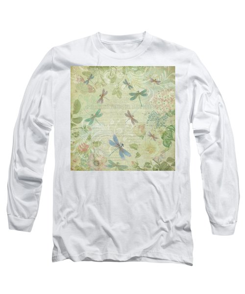 Dragonfly Dream Long Sleeve T-Shirt by Peggy Collins