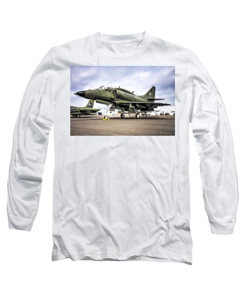 Douglas A-4m Skyhawk II Long Sleeve T-Shirt by Michael White