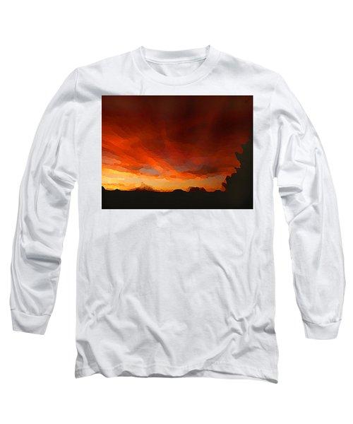 Drama At Sunrise Long Sleeve T-Shirt