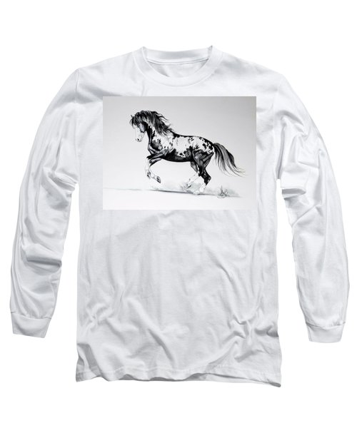 Dream Horse Series - Painted Dust Long Sleeve T-Shirt by Cheryl Poland