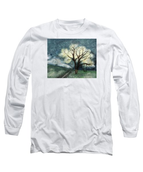 Long Sleeve T-Shirt featuring the painting Dream Tree by Annette Berglund