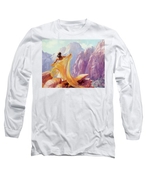 Long Sleeve T-Shirt featuring the painting Dreamcatcher by Steve Henderson