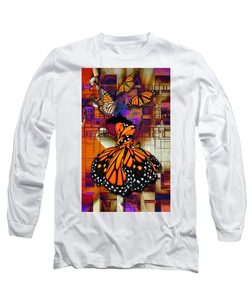 Long Sleeve T-Shirt featuring the mixed media Dreaming Of Flying High by Marvin Blaine