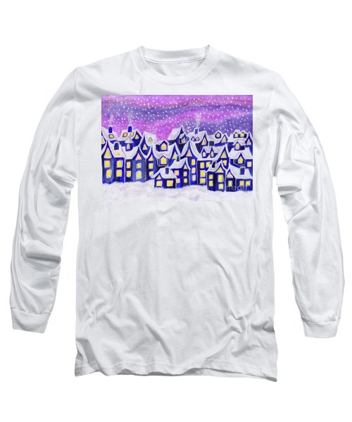 Dreamstown Blue, Painting Long Sleeve T-Shirt
