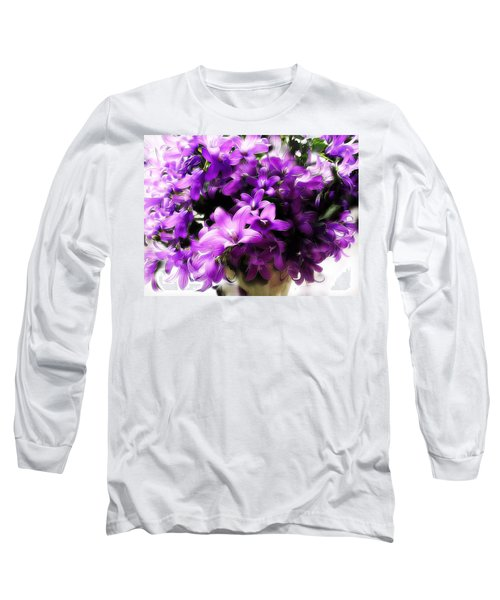Dreamy Flowers Long Sleeve T-Shirt by Gabriella Weninger - David