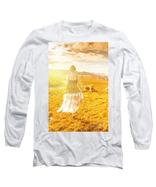 Dreamy Summer Fields Long Sleeve T-Shirt