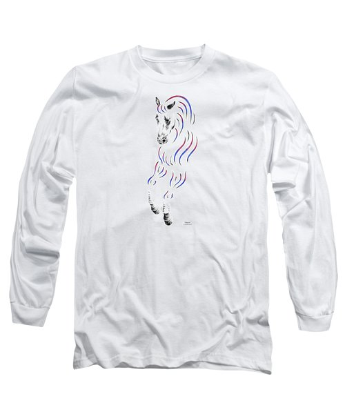 Dressage Horse Dancer Print Long Sleeve T-Shirt by Kelli Swan