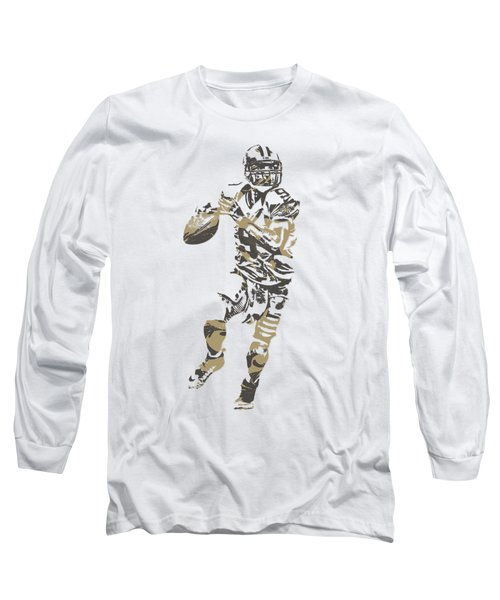 Drew Brees New Orleans Saints Pixel Art T Shirt 1 Long Sleeve T-Shirt