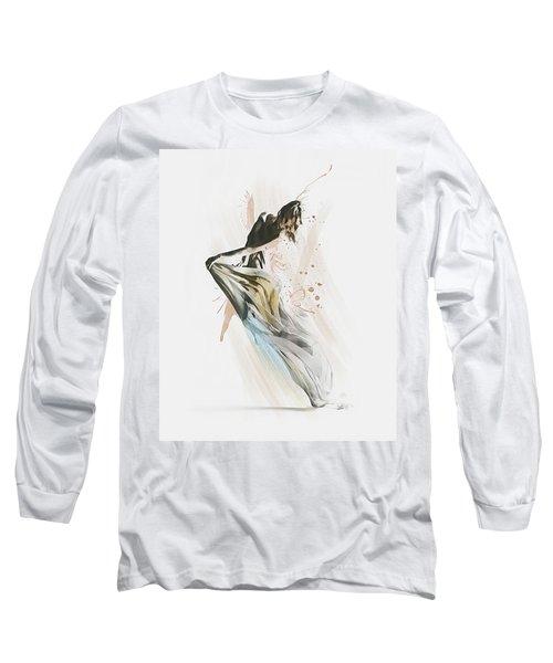 Long Sleeve T-Shirt featuring the digital art Drift Contemporary Dance by Galen Valle