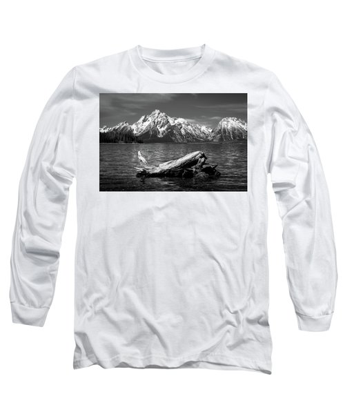 driftwood and Mt. Moran Long Sleeve T-Shirt