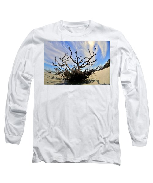Driftwood And Roots Hunting Island Sc Long Sleeve T-Shirt