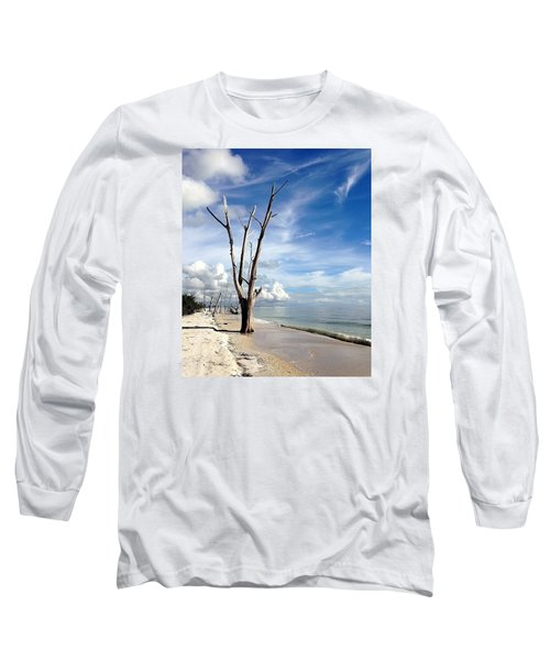 Long Sleeve T-Shirt featuring the photograph Driftwood At Lovers Key State Park by Janet King