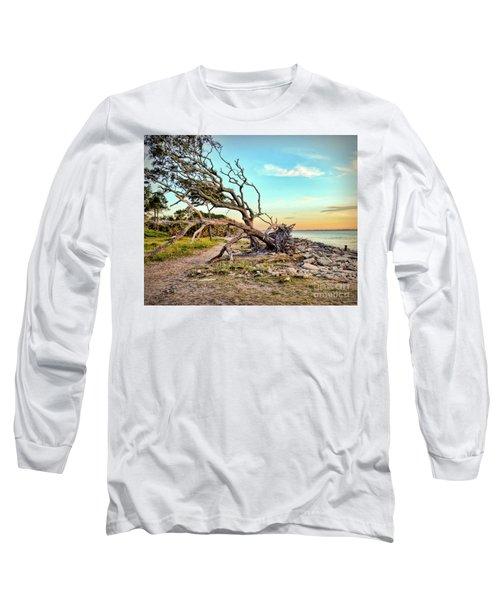 Driftwood Beach Morning 2 Long Sleeve T-Shirt