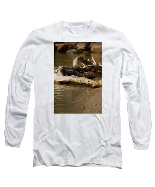 Long Sleeve T-Shirt featuring the photograph Driftwood by Ramona Whiteaker