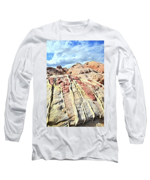 Dripping Color In Valley Of Fire Long Sleeve T-Shirt by Ray Mathis
