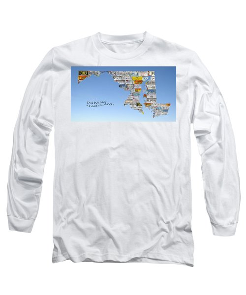 Driving Maryland Long Sleeve T-Shirt by Jewels Blake Hamrick