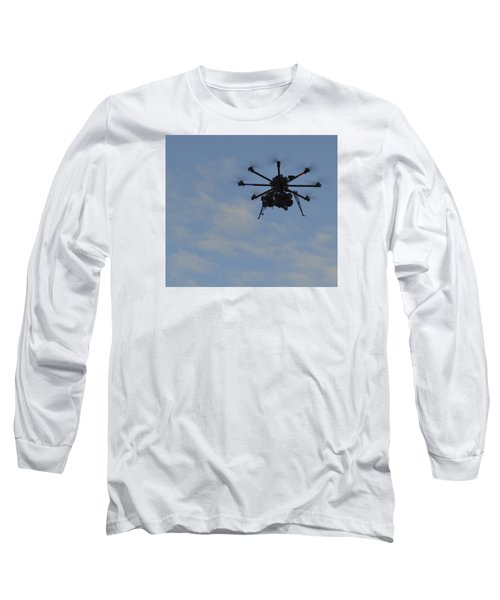 Drone Long Sleeve T-Shirt by Linda Geiger