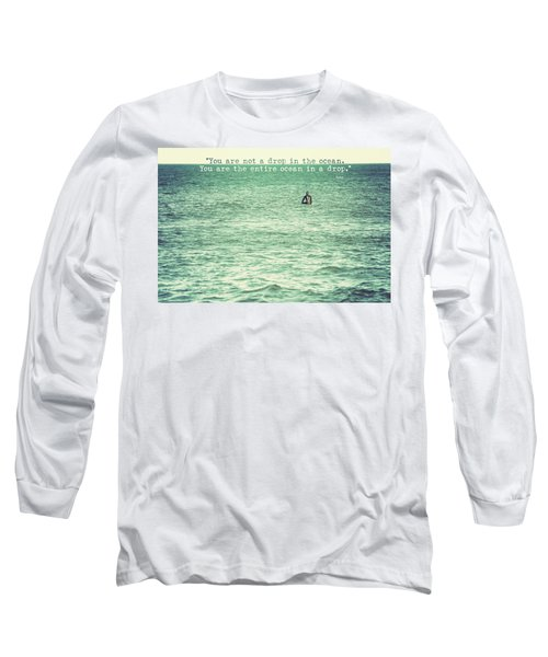 Drop In The Ocean Surfer Vintage Long Sleeve T-Shirt by Terry DeLuco