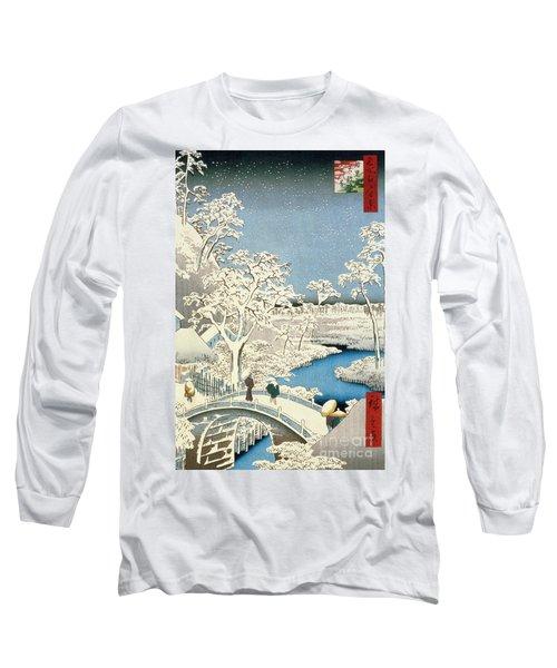 Drum Bridge And Setting Sun Hill At Meguro Long Sleeve T-Shirt
