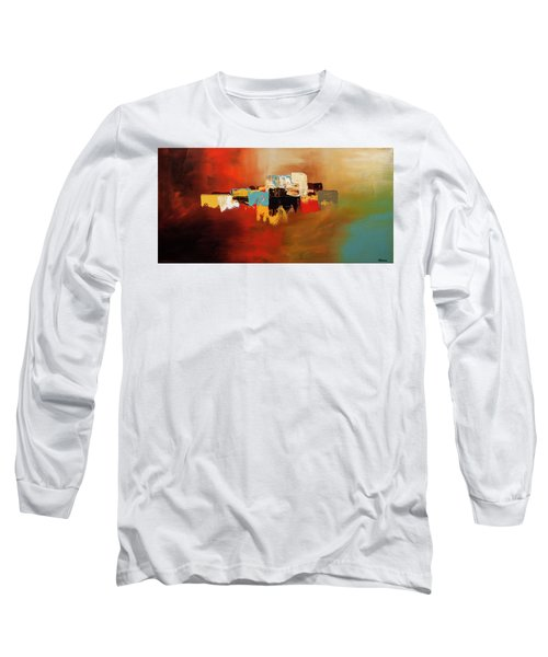 Long Sleeve T-Shirt featuring the painting Du Soleil by Carmen Guedez