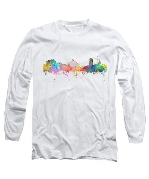Dublin  Ireland. Skyline Long Sleeve T-Shirt by Marlene Watson