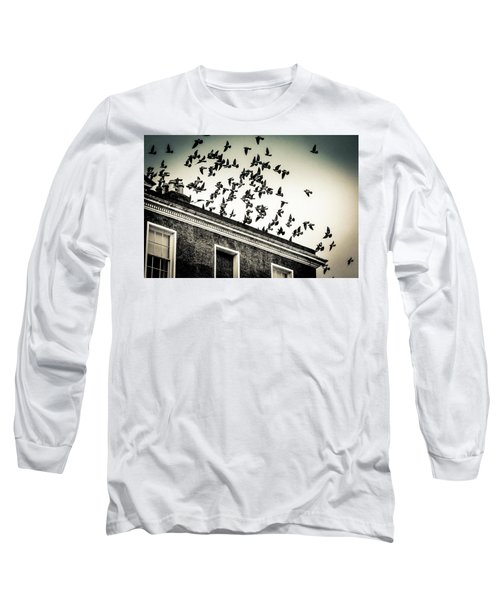Flight Over Oscar Wilde's Hood, Dublin Long Sleeve T-Shirt