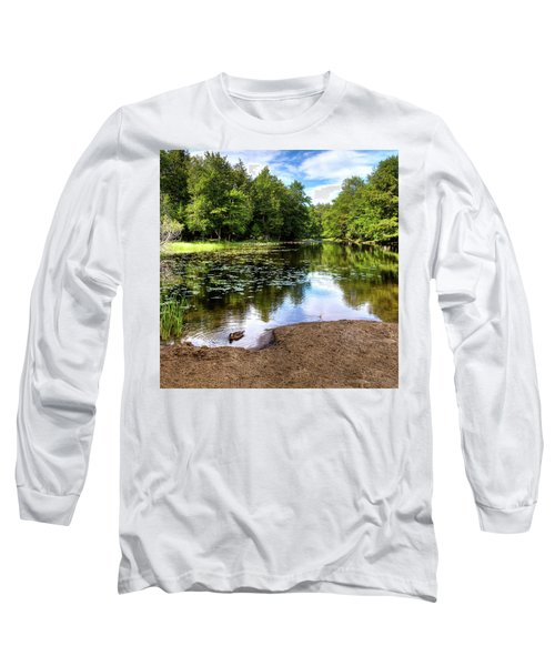 Long Sleeve T-Shirt featuring the photograph Duck At Covewood by David Patterson