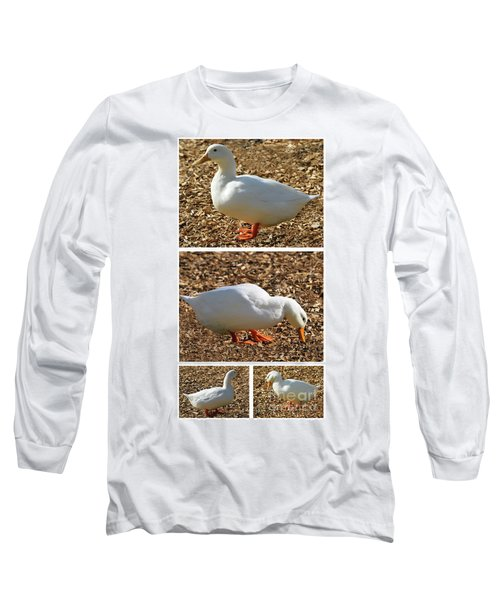 Duck Collage Mixed Media A51517 Long Sleeve T-Shirt