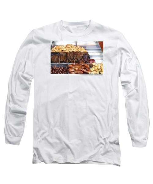 Duck Heads In Soy Sauce And Rice And Blood Cakes Long Sleeve T-Shirt