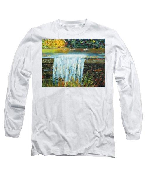 Ducks And Waterfall Long Sleeve T-Shirt by Michael Daniels