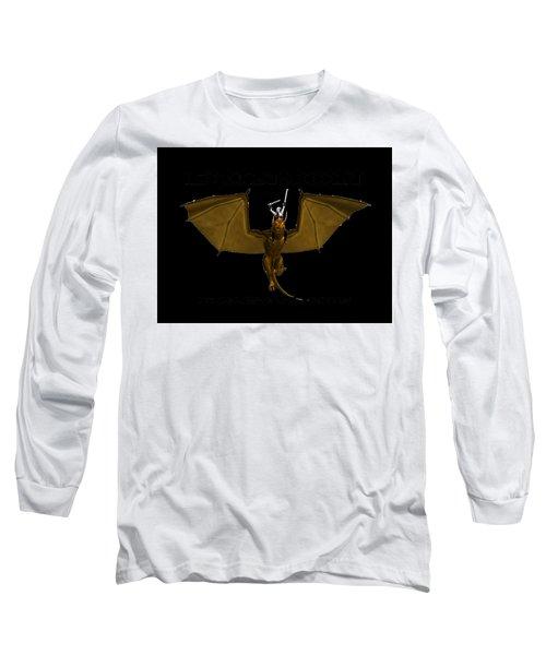 Dunjon T-shirt Print 2 White Long Sleeve T-Shirt