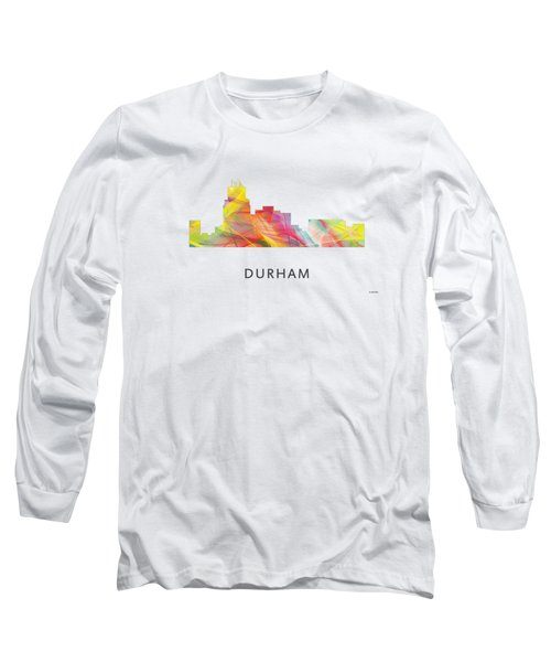 Durham North Carolina Skyline Long Sleeve T-Shirt