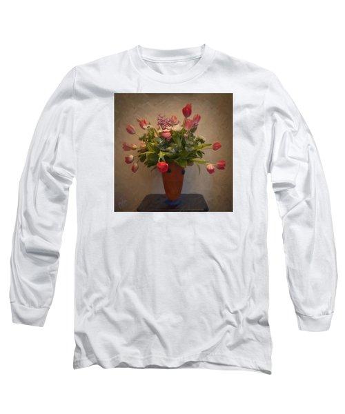 Dutch Flowers Blooming Long Sleeve T-Shirt by Nop Briex