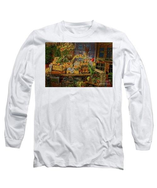 Dutch Shop Long Sleeve T-Shirt by Sandy Moulder
