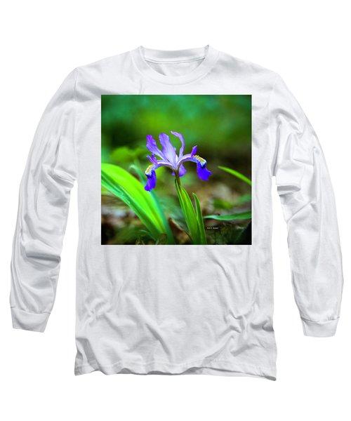 Dwarf Crested Iris Long Sleeve T-Shirt