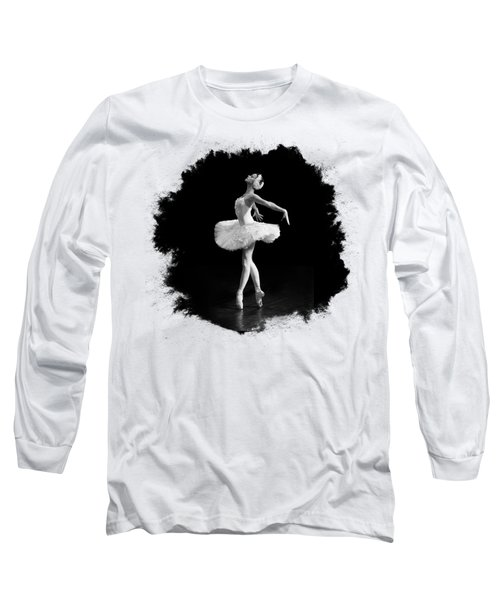 Dying Swan I T Shirt Customizable Long Sleeve T-Shirt by Clare Bambers
