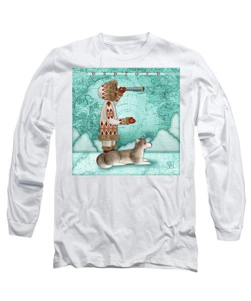 E Is For Eskimo And Explorer Long Sleeve T-Shirt